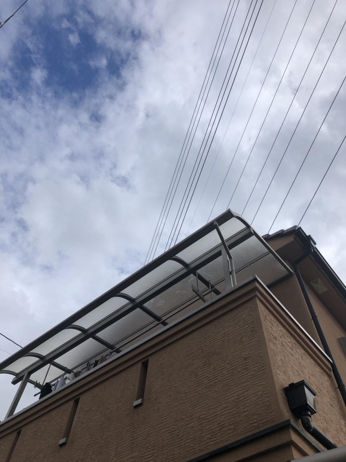 ベランダテラスの屋根修繕