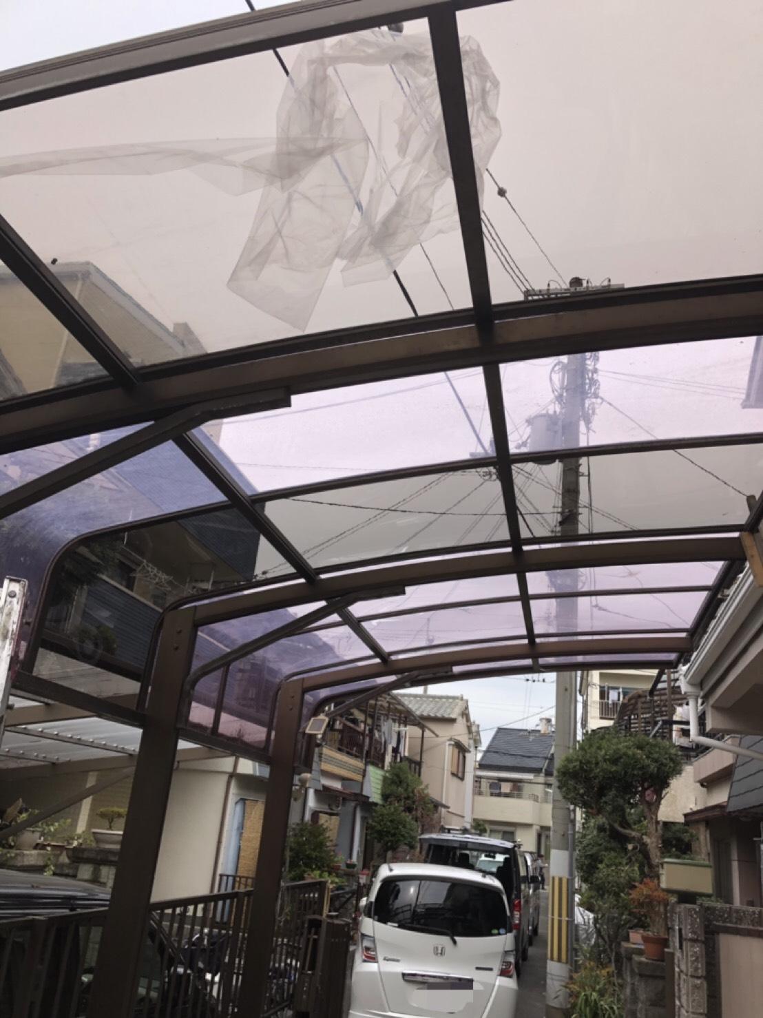 カーポート屋根の貼り替え