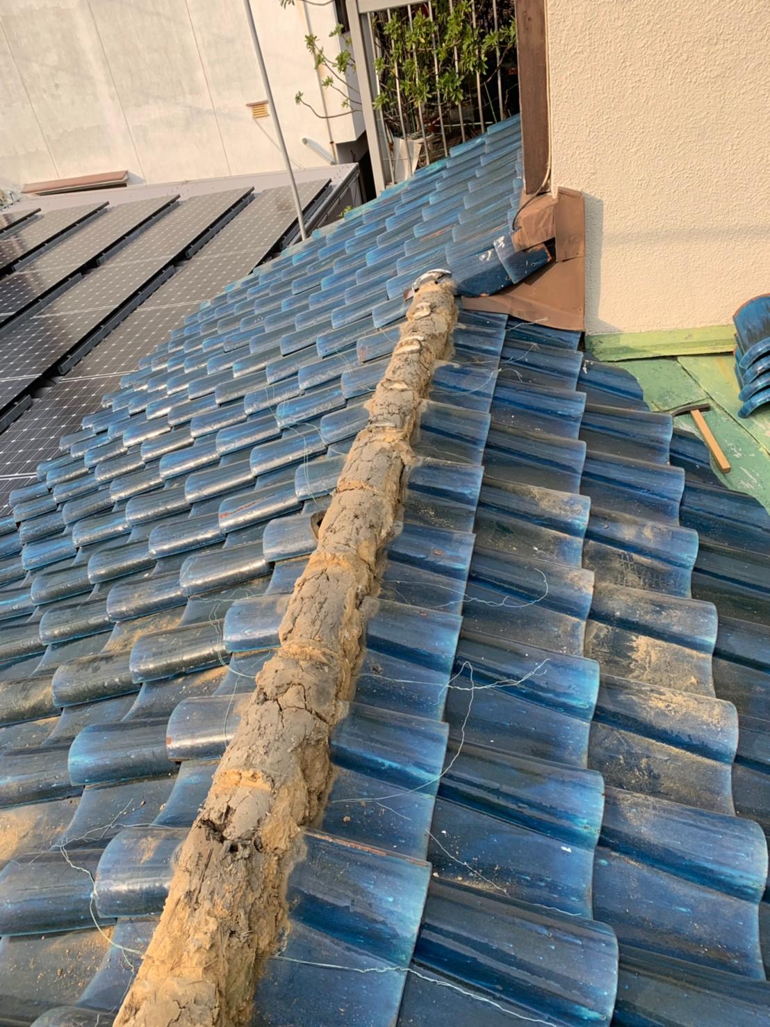 屋根瓦の修繕