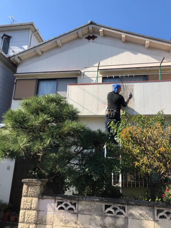 東花園K様チラシより外壁塗装工事のご依頼