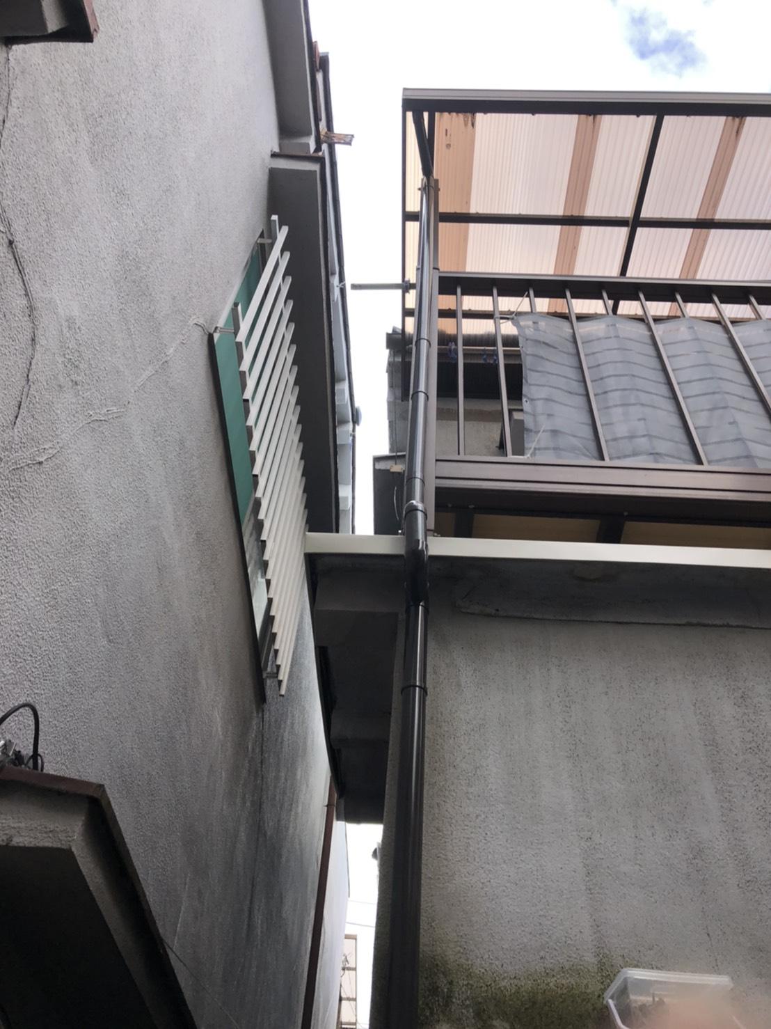 樋とひさしの修繕