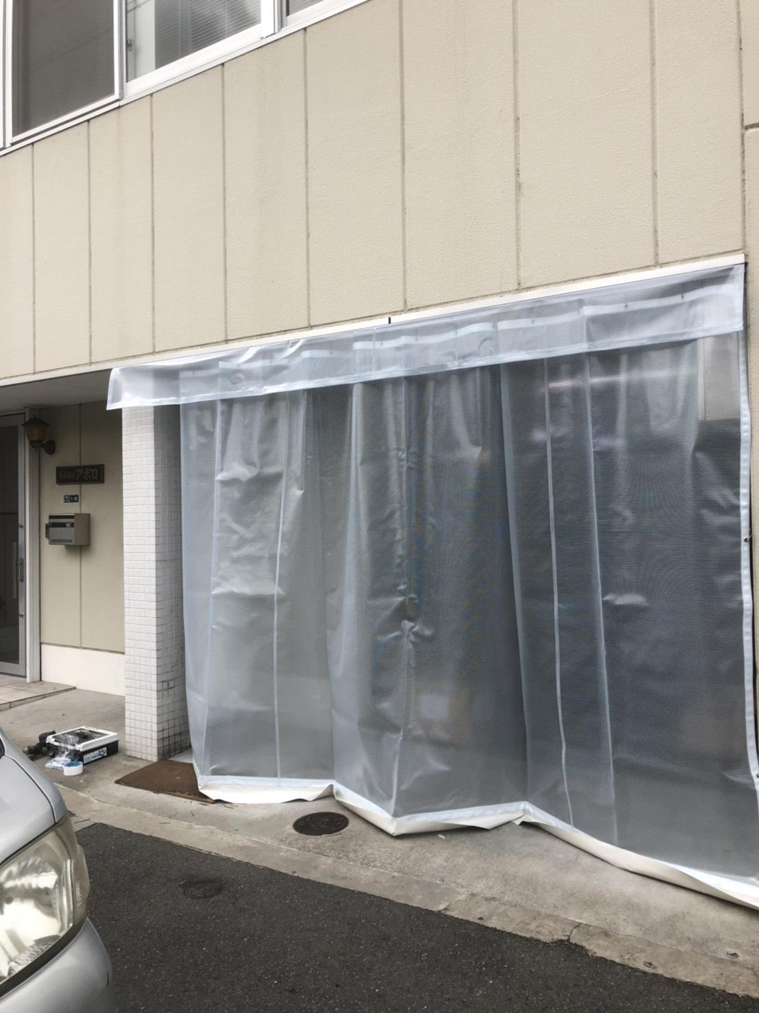 大東市にて倉庫カーテン取り替え工事のご依頼