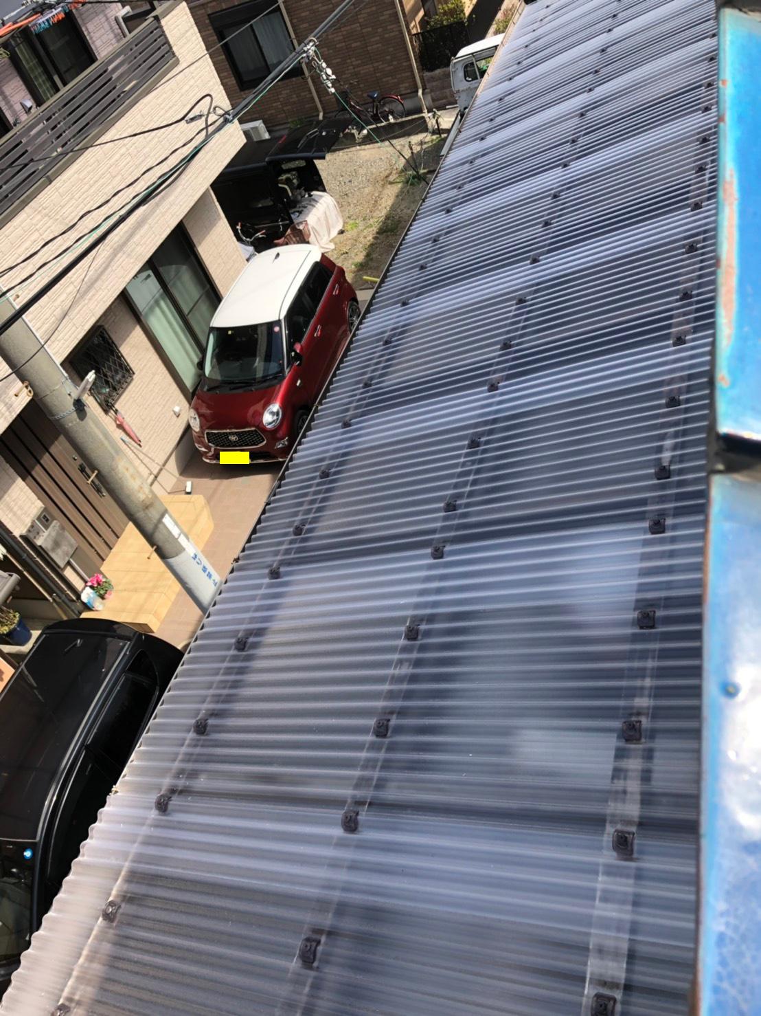 本日工事完了!ベランダ補修工事(波板張り替え)+外壁塗装工事