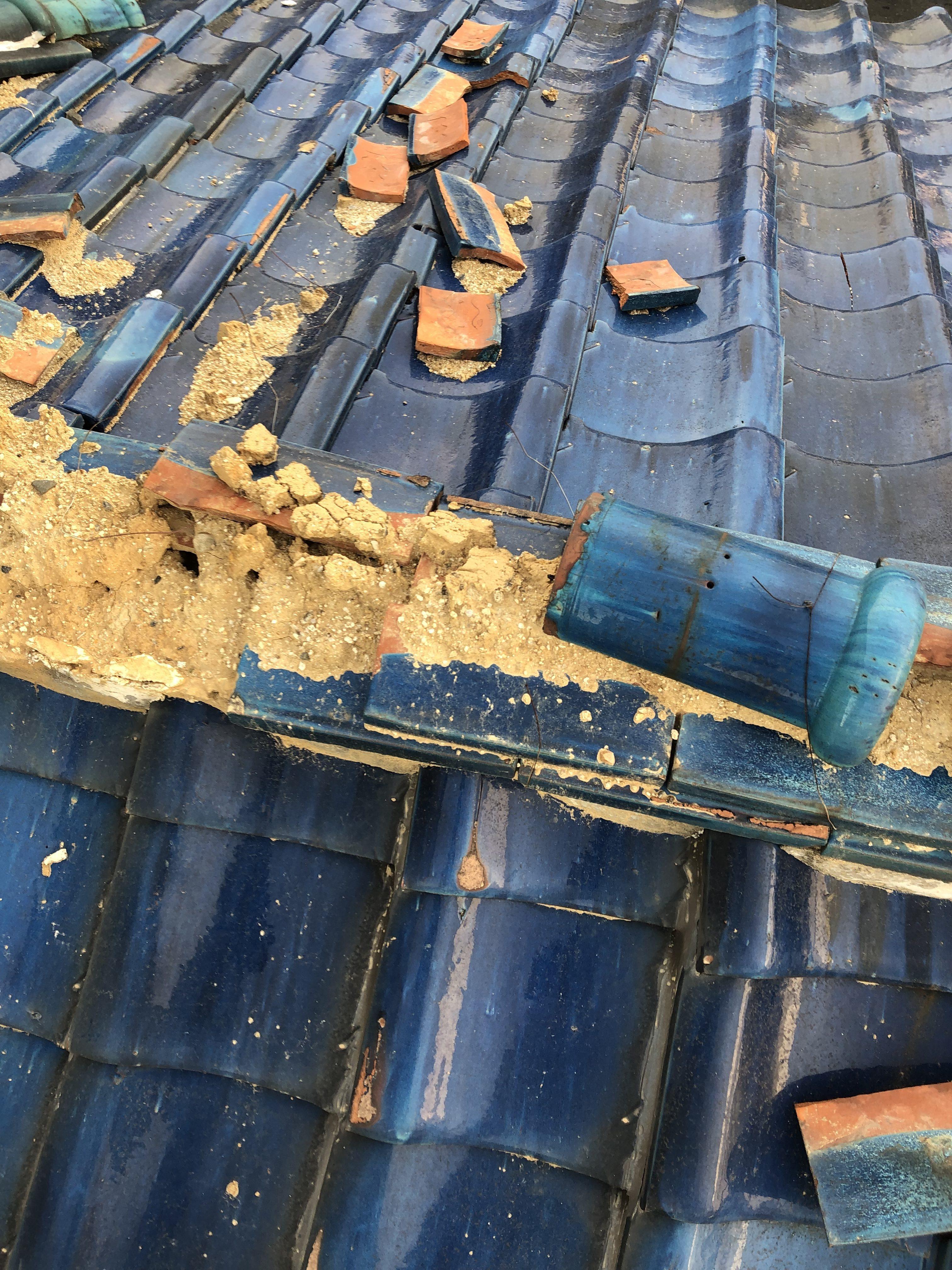 瓦屋根の修繕